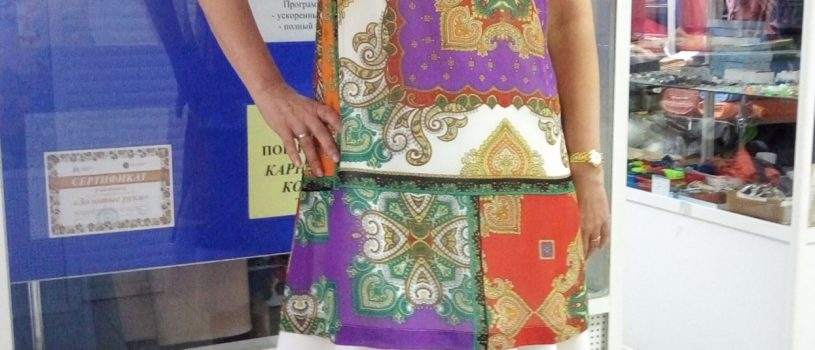 🧵Сшили легкое фантазийное платье для Татьяны.