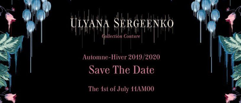 Показ Ulyana Sergeenko Couture осень-зима 2019/20.