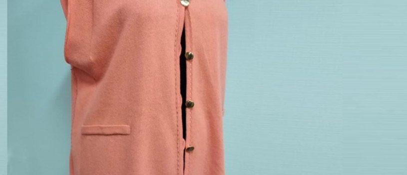 Индивидуальный пошив женского кардигана из трикотажного палантина.