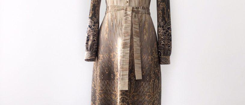 Раскрываем Секреты идеального и любимого платья нашей клиентки Кристины: приталенный силуэт, итальянский трикотаж с роскошным принтом, длина по щиколотку, изысканные пуговицы и конечно же, наша любовь и мастерство