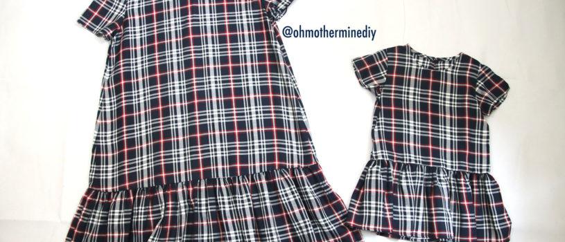 Выкройка и видео МК по пошиву платья фэмилилук