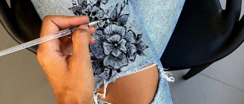 Роспись джинсовых изделий
