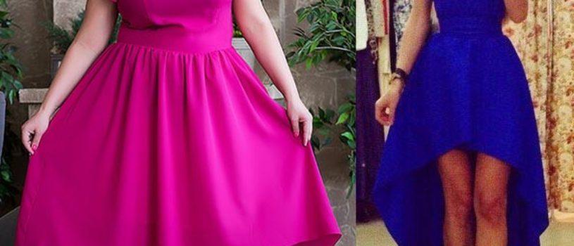 Женское платье с перепадом длинны выкройка на русские размеры 40-52 при печати ставьте галочку в графе «Постер»
