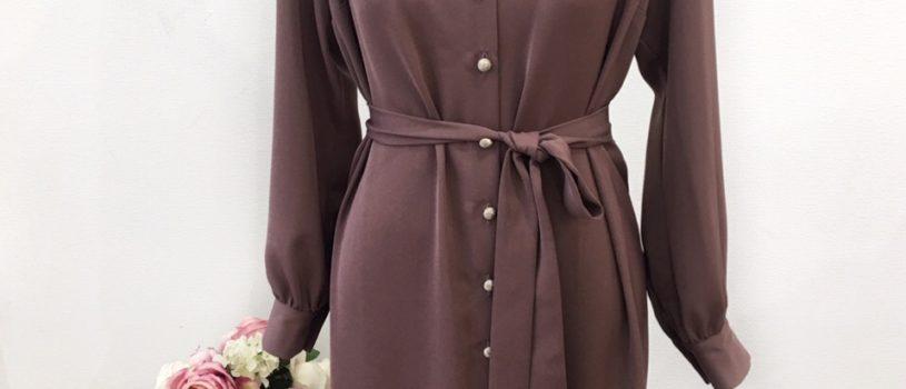 Новый креп-шифон уже полюбился нашим девочкам, вот например, платье-рубашка из этой струящейся легкой ткани