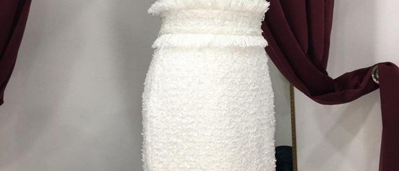 Твидовое платье идеально для любого  случая !