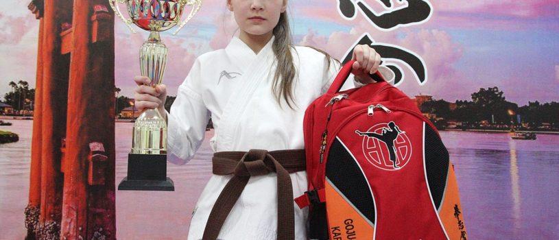 Отличный рюкзак для юной чемпионки из Печоры!