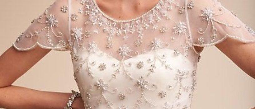 Нарядный декор свадебных платьев.