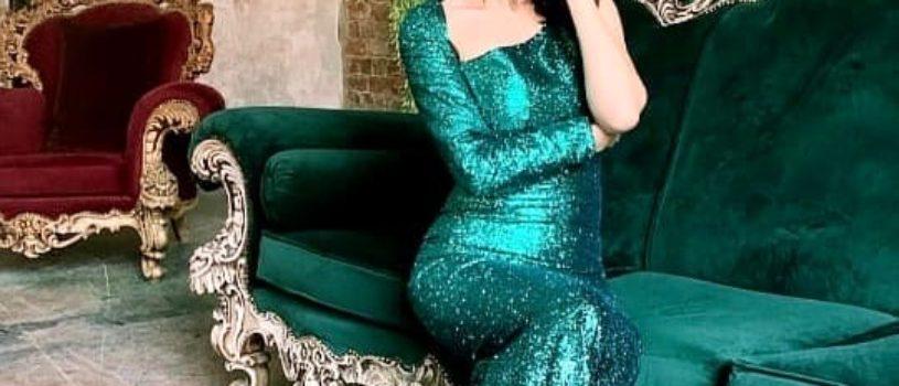 Наше изумрудное платье из пайеток