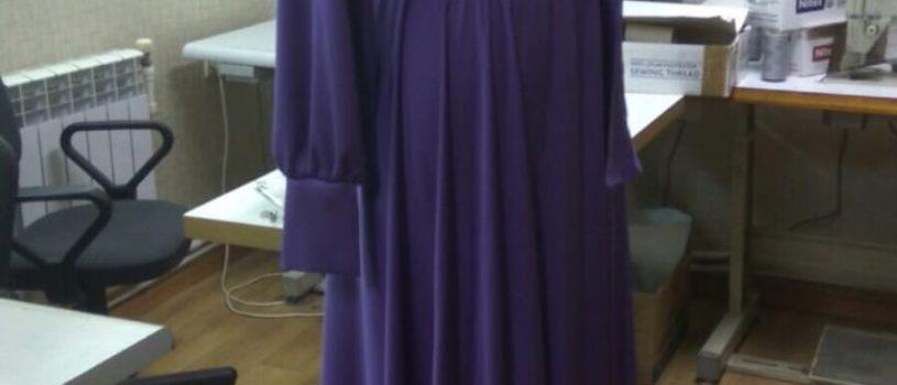Платье из шёлка армани готово